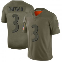 Limited Robert Griffin III Men's Baltimore Ravens Camo 2019 Salute to Service Jersey - Nike